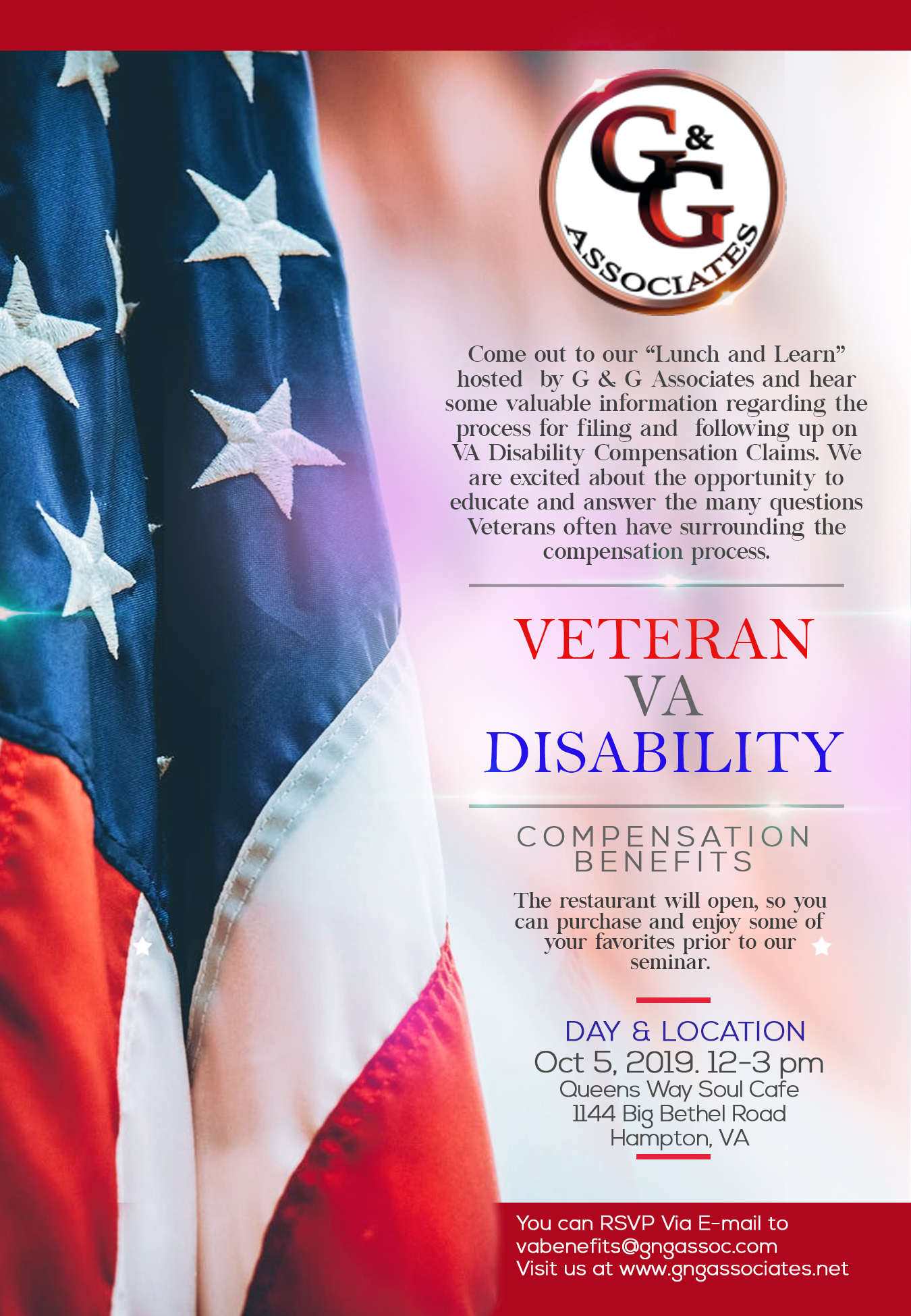 Lunch and LEarn Session with Veteran VA Disability